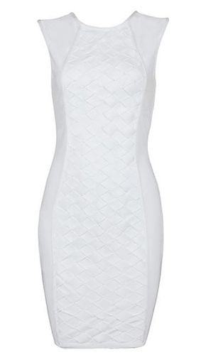 Kinsley White Bandage Dress