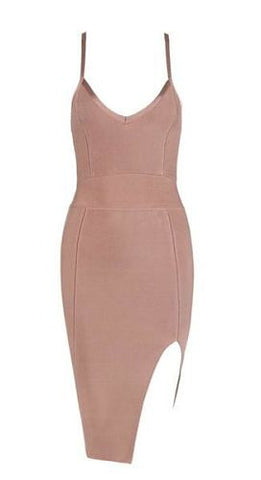 Leilani Beige Bandage Dress