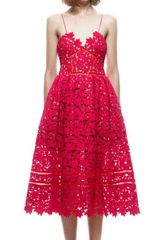 Lydia Red Lace Dress
