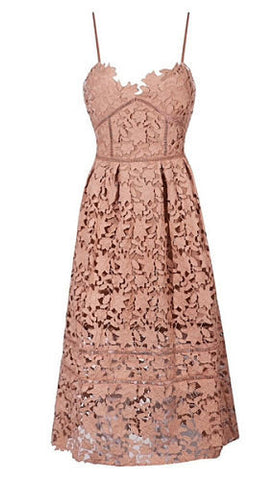 Lydia Brown Lace Dress