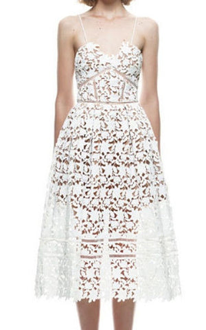 Lydia White Lace Dress