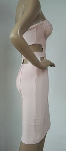 Morgan Strapless Bustier Bandage Dress