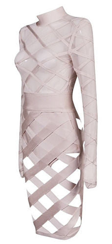 Neeva Sheer Mesh Banddage Dress