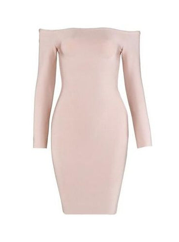Norma Beige Bandage Dress