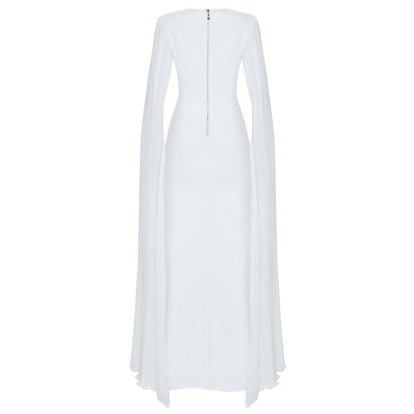 Oliana White Long Sleeve Maxi Bandage Dress