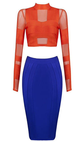 Orla Mesh Two Piece Bandage Dress