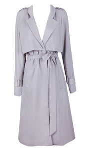 Reagan Gray Light Trench Coat