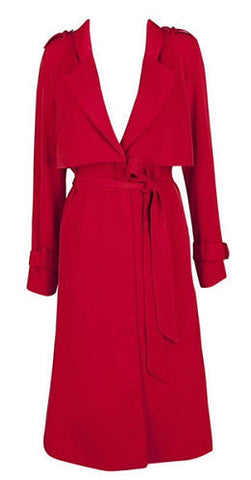 Reagan Red Light Trench Coat