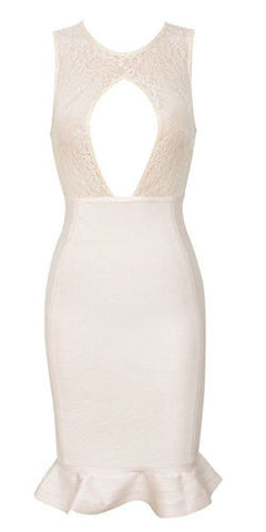 Rebecca Cream Lace Dress