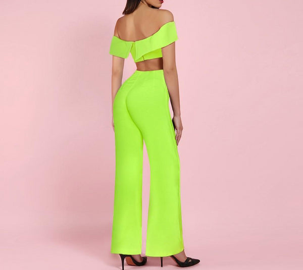 Rosanne Neon Green Two Piece Set