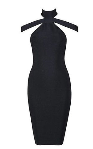 Lilly Black Bandage Dress