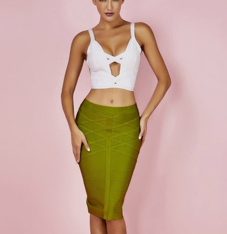 Yeva Mini Two Piece Bandage Dress