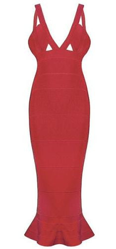 Zanna Fishtail Bandage Dress