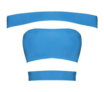 Zaya Blue Bandage Top