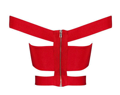 Zaya Red Bandage Top