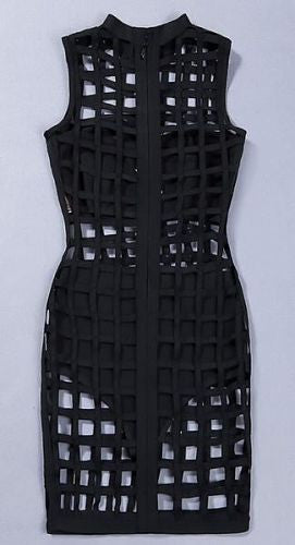 Zosia Black Cage Bandage Dress