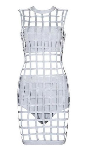 Zosia Gray Cage Bandage Dress