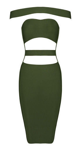 Alli Green Bandage dress