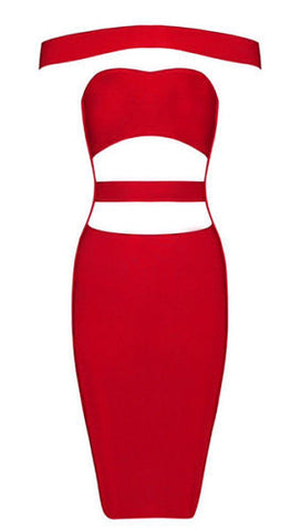 Alli Red Bandage dress