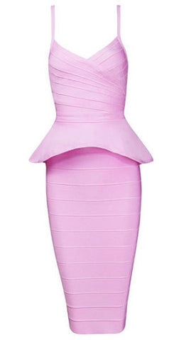 Alley Pink Two-Piece Bandage Dress
