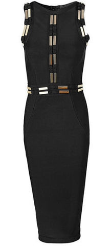 Ava Black Bandage Dress