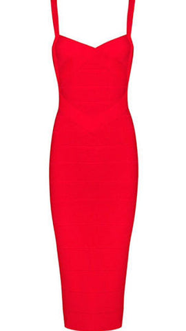 Callie Red Bandage Dress