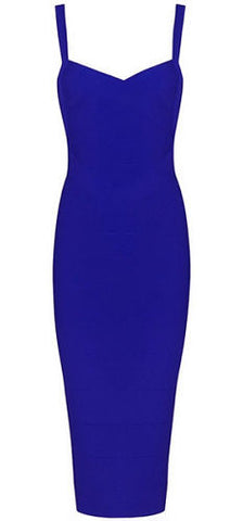 Callie Dark Blue Bandage Dress