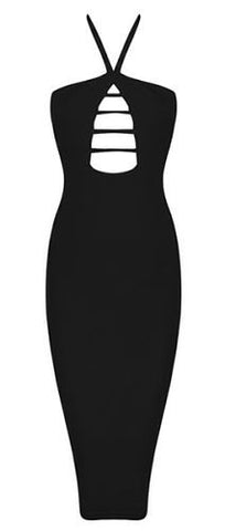 Debbie Black Cutout Bandage Dress