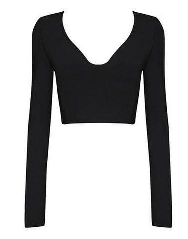 Elyn Cutout  Back Crop Top