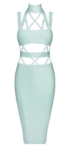 Emery Mint Cutout Bandage Dress