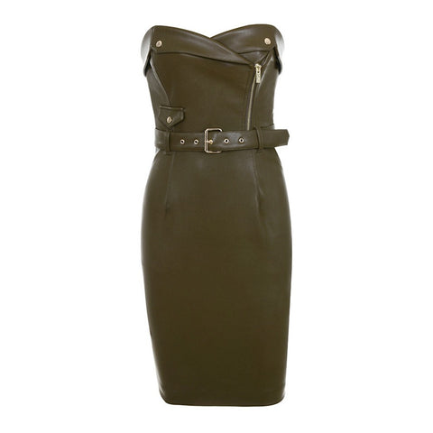 Blake Dark Green Strapless Sexy Dress