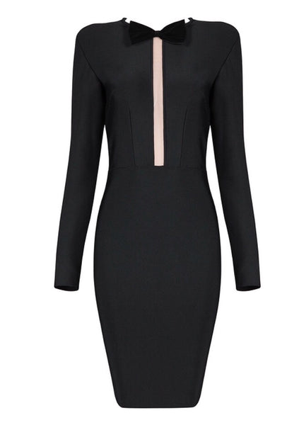 Ky Mini Long Sleeve Bandage Dress