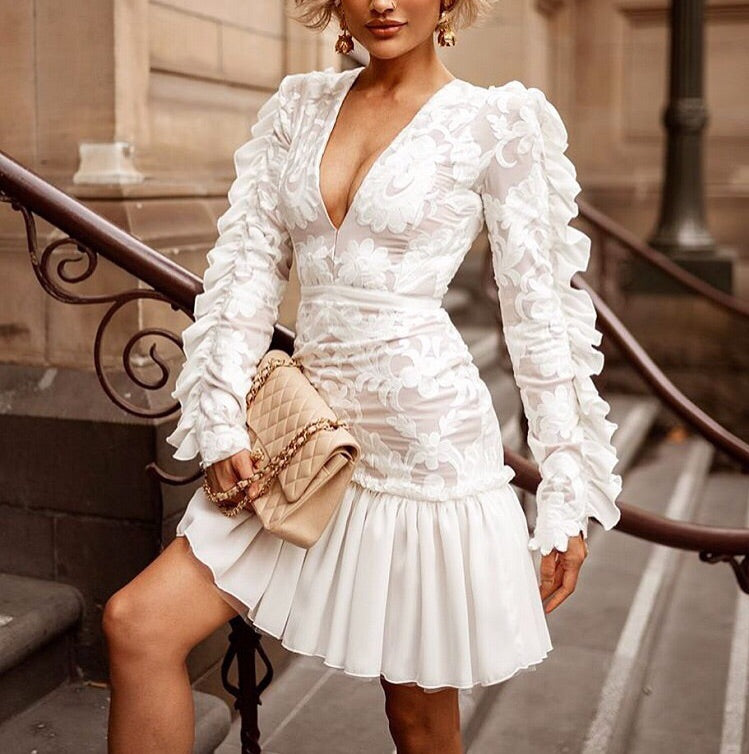 white lace mini dresses