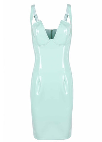Chelsea Mint Green PU Dress