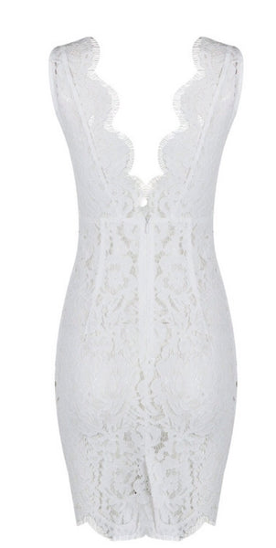 Abril White Lace Dress
