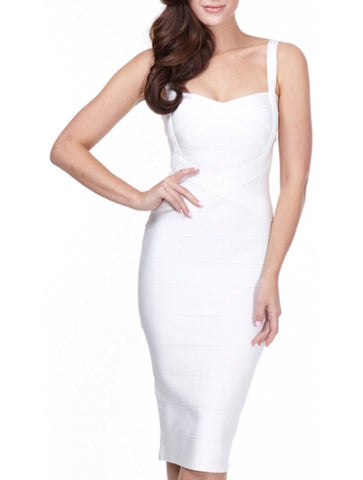 Callie White Bandage Dress