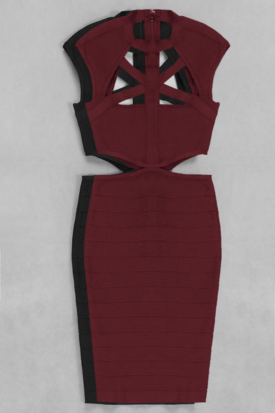 Dolly Red Cut Out Detail Mini Dress