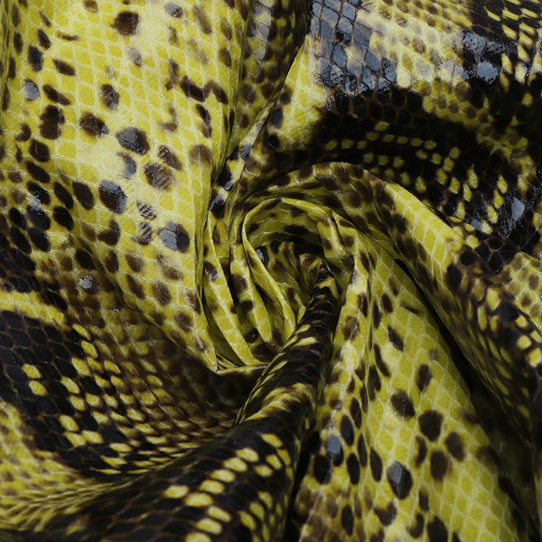 Allison Snake Print Yellow Black Mini Dress