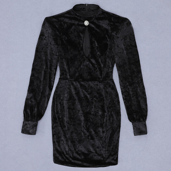 Kennedy Long Sleeve Mini Velvet Dress
