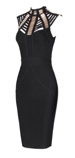 Melanie Black Sleeveless Dress