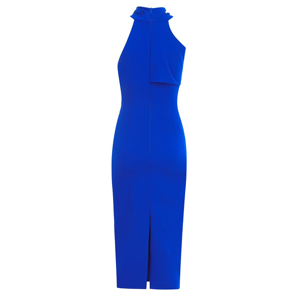 Dalary Blue Midi Dress with Cut Out Design
