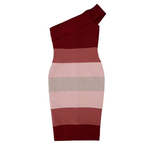 Lais One Strap Midi Bandage Dress