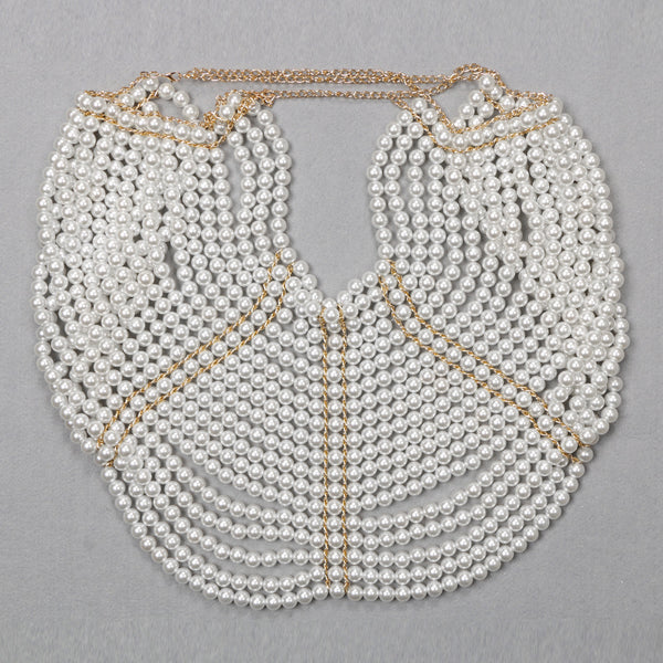 Hattie Pearl Hollow Out O-Neck Necklace Tops