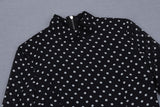 Dannii Long Sleeve Polka Dot Midi Dress