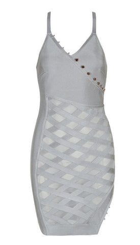 Kandee Gray Bandage Dress