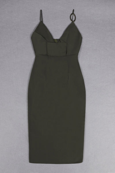 Brittany Green Spaghetti Strap Dress