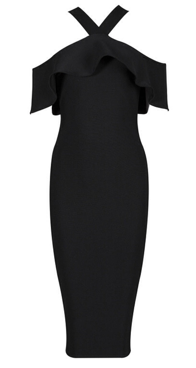 Aria Black Bandage Dress