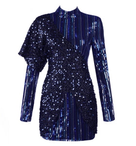 Abilene Dark Blue Sequins Dress