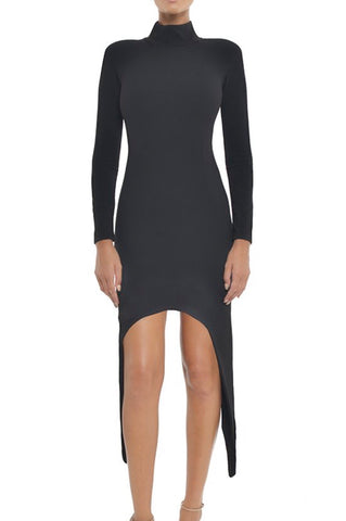Cindy Black Long Sleeve Bandage Dress