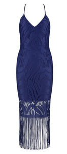 Julina Navy Blue Bandage Dress